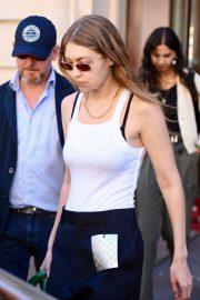 Gigi Hadid - Leaving The Royal Monceau in Paris