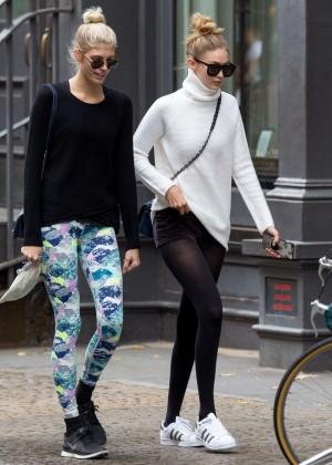 Gigi Hadid - Leaving yogurt place in New York