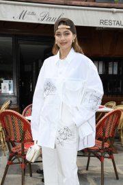 Gigi Hadid - Louis Vuitton Menswear SS 2020 Front Row in Paris