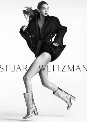 Gigi Hadid - Mario Testino photoshoot for Stuart Weitzman (Fall/Winter 2016/17)