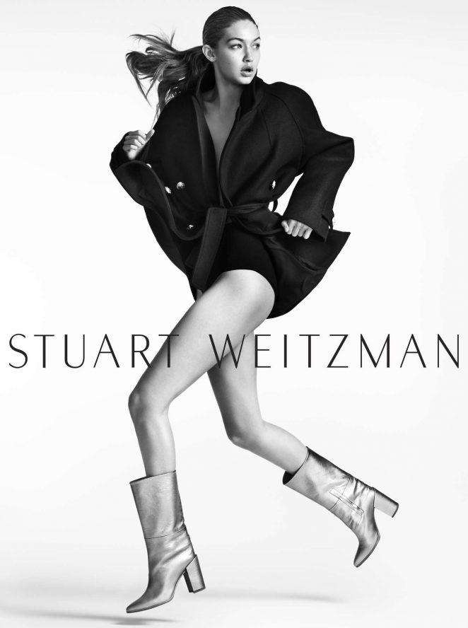 Gigi Hadid - Mario Testino photoshoot for Stuart Weitzman (Fall/Winter 2016/17)