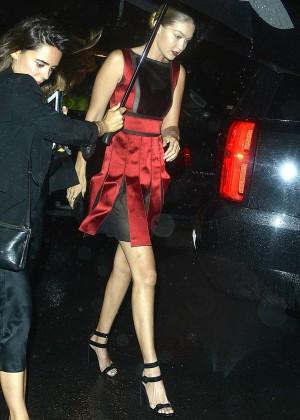 Gigi Hadid in Mini Dress night out in NYC