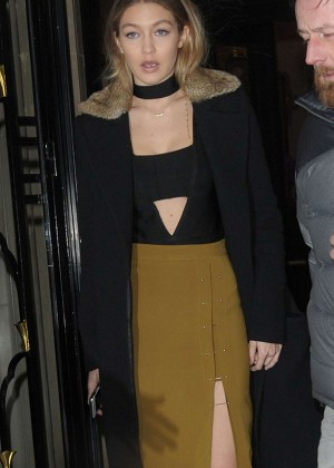 Gigi Hadid Night Out in Paris