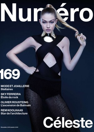 Gigi Hadid - Numero France Magazine (Dec 2015/Jan 2016)