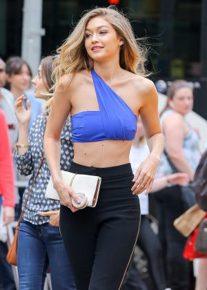 Gigi Hadid on Maybelline Photoshoot in New York City