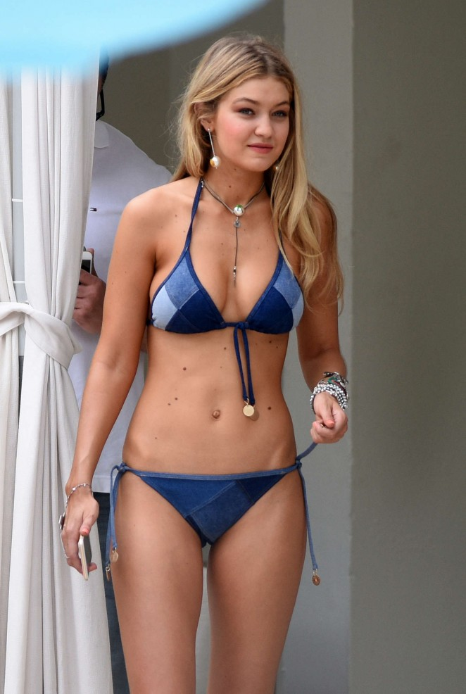 Gigi Hadid - Bikini Photoshoot in Miami