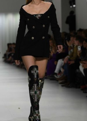 Gigi Hadid - On the runway during the 2017 Versace fashion show in Milan