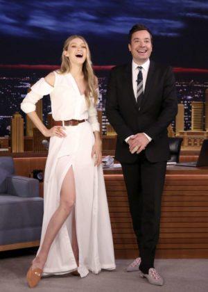 Gigi Hadid on 'The Tonight Show Starring Jimmy Fallon' in NY