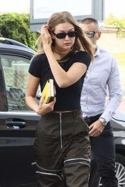 Gigi Hadid - Out during Milan Fashion Week