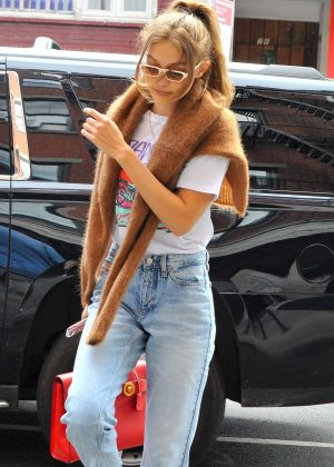 Gigi Hadid out for brunch in New York City