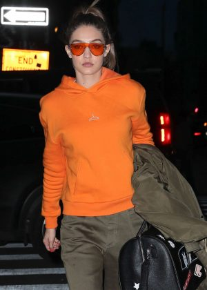 Gigi Hadid out for dinner at Zuma in New York