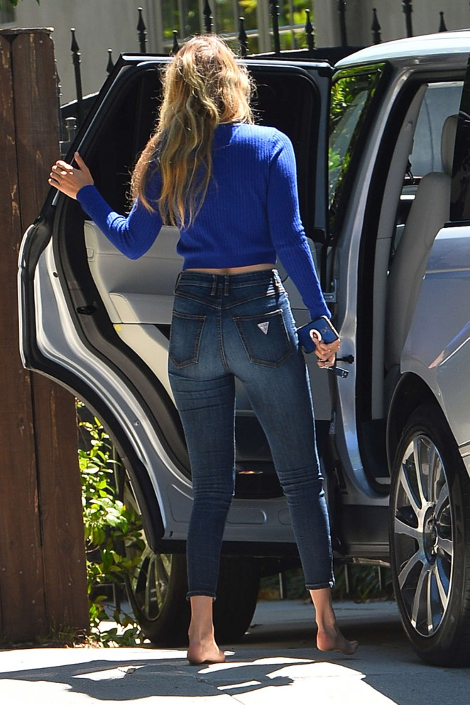 Gigi Hadid Booty in Jeans Out in LA