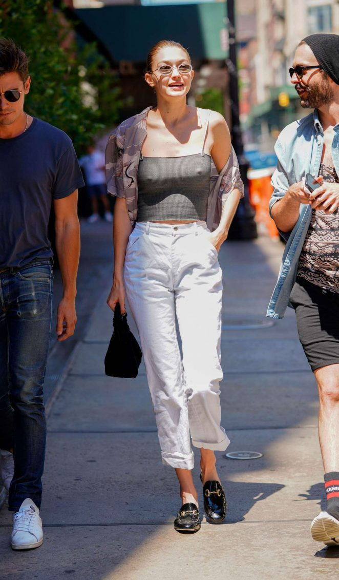 Gigi Hadid: Out in New York City -07