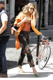 Gigi Hadid - Out in orange while out in New York