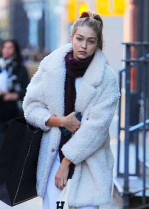 Gigi Hadid - Out in Soho