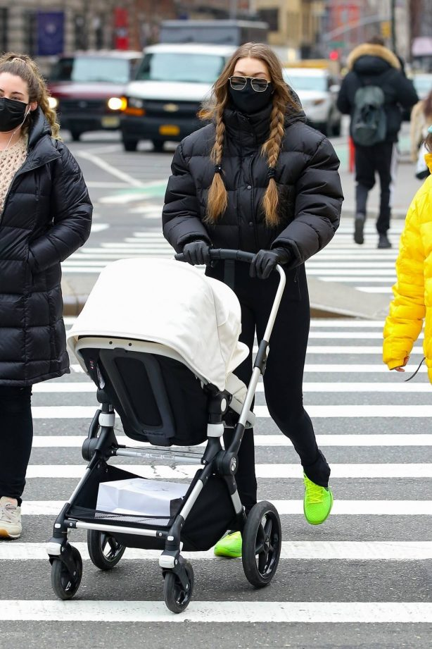Gigi Hadid - Out ith her baby in New York City