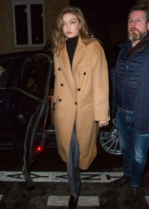 Gigi Hadid - Outside Off-White After Party in Paris