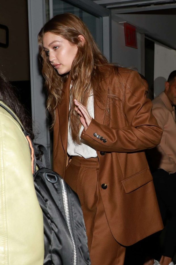 Gigi Hadid - Outside the Carine Roitfeld Fragrance Collection '7 Lovers' in NYC