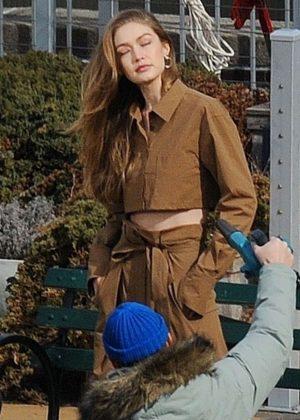 Gigi Hadid - Photoshoot in NYC