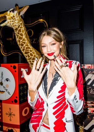Gigi Hadid - Promoting her new soldiers uniforms for FAO Schwartz in NYC