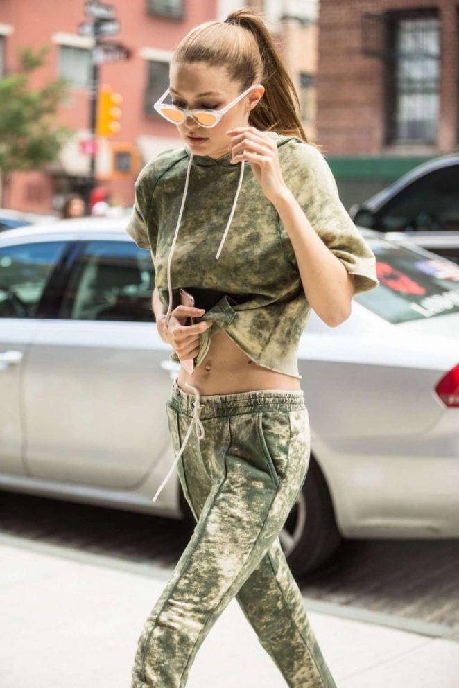 Gigi Hadid - Returns Home in NYC