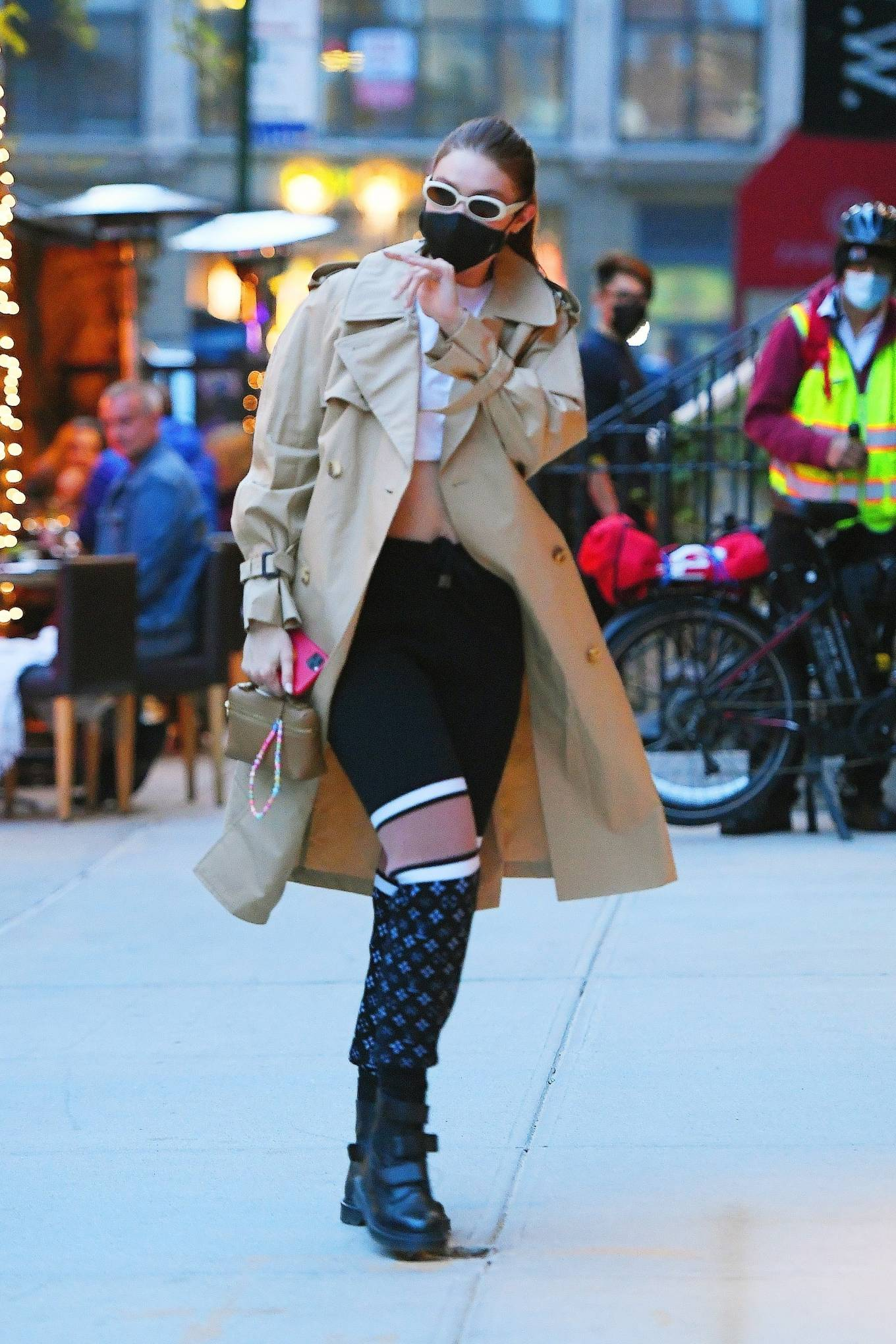Gigi Hadid 2021 : Gigi Hadid – Seen after shooting for Maybelline in New York-05