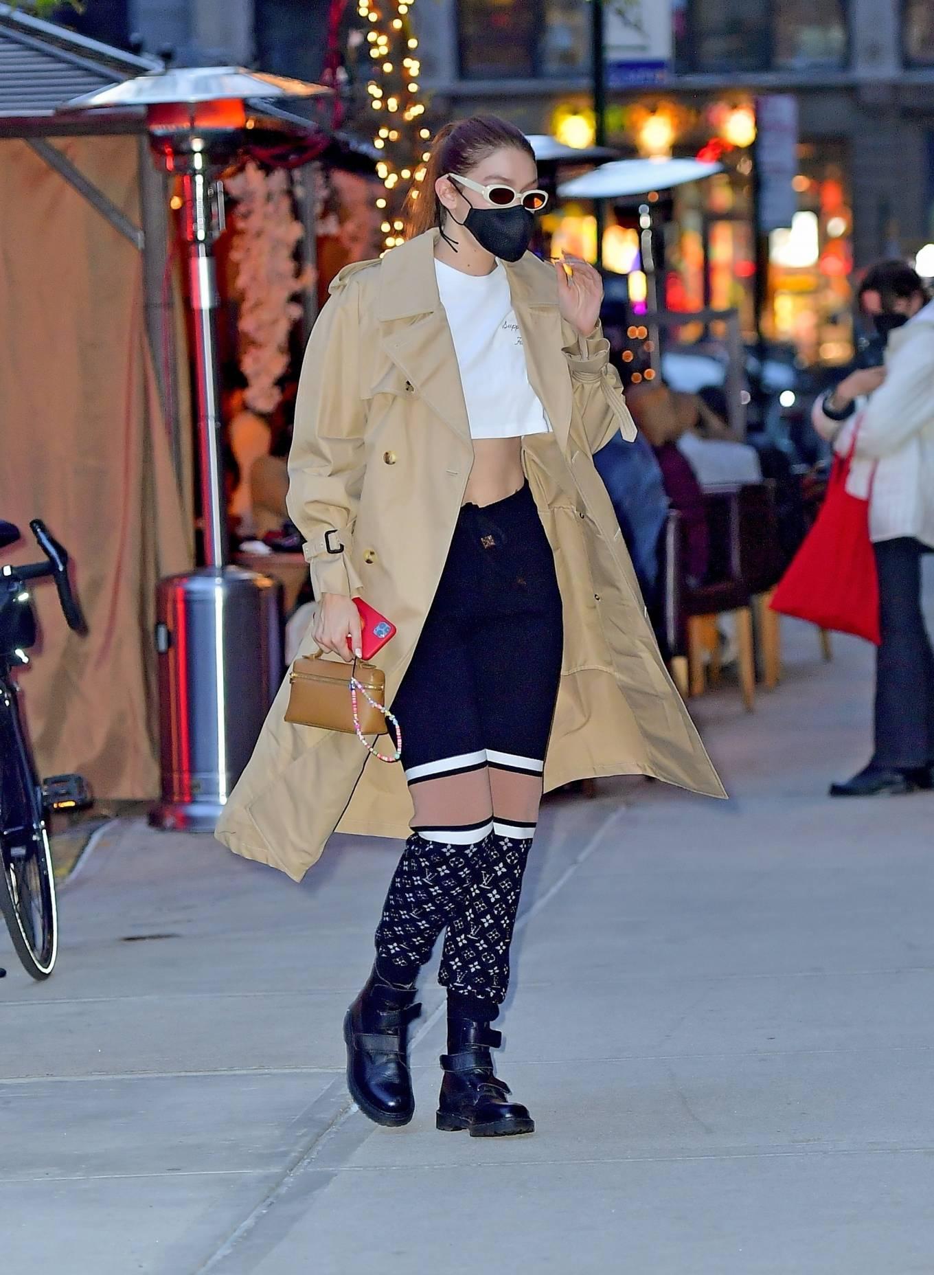 Gigi Hadid 2021 : Gigi Hadid – Seen after shooting for Maybelline in New York-09