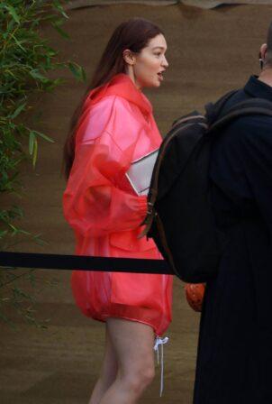 Gigi Hadid - Seen at Tods Fashion Show during 2021 Milan Fashion Week