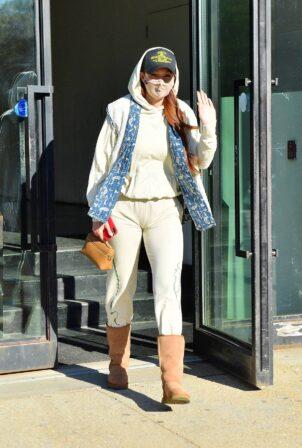 Gigi Hadid - Seen exiting Spring Studio's Event venue in New York City