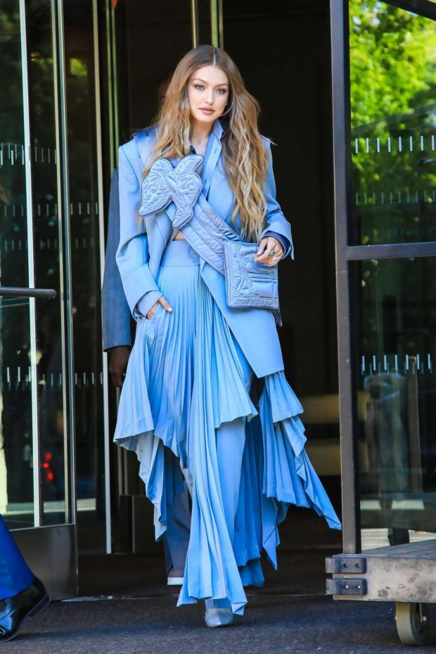 Gigi Hadid: Seen leaving her hotel at 2019 CFDA Fashion Awards in NYC-01