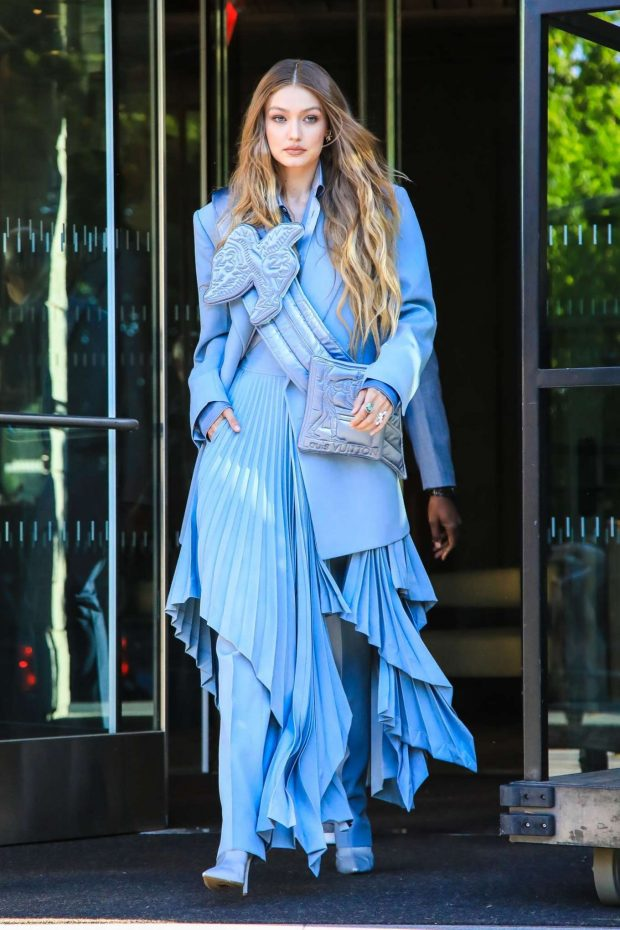 Gigi Hadid - Seen leaving her hotel at 2019 CFDA Fashion Awards in NYC