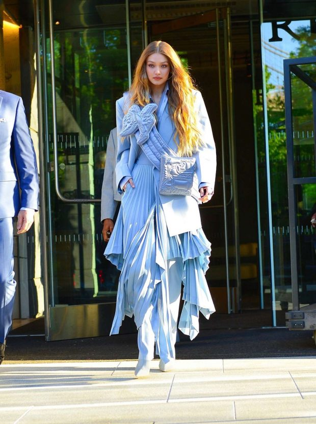 Gigi Hadid: Seen leaving her hotel at 2019 CFDA Fashion Awards in NYC-09