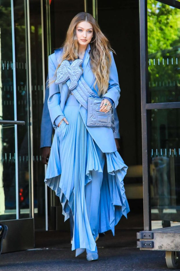 Gigi Hadid: Seen leaving her hotel at 2019 CFDA Fashion Awards in NYC-11