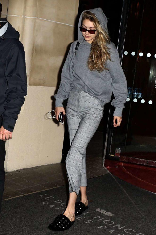 Gigi Hadid - Seen Leaving Her Hotel in Paris