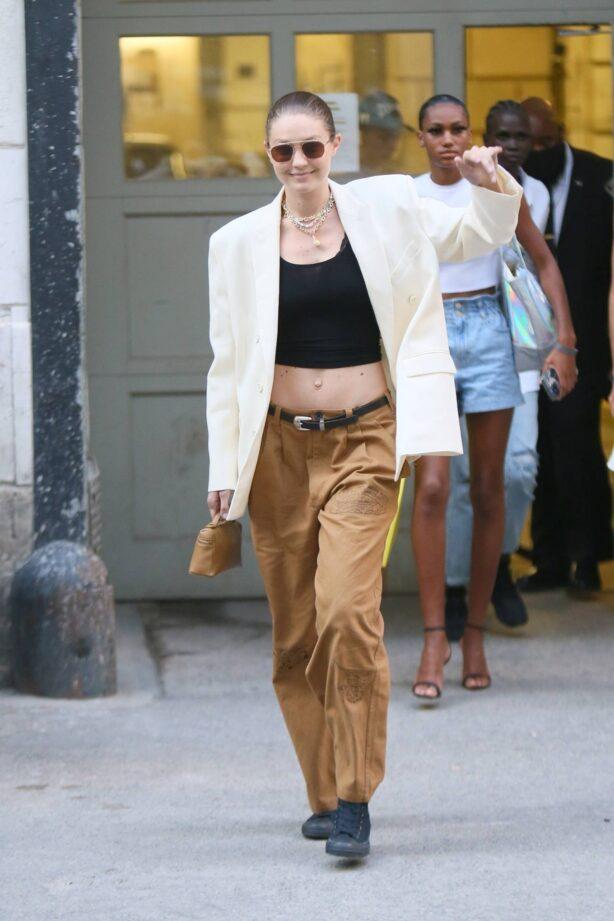 Gigi Hadid - seen leaving the Marc Jacobs Fashion show