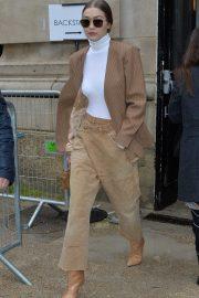 Gigi Hadid - Seen while exits the Chloe fashion show in Paris