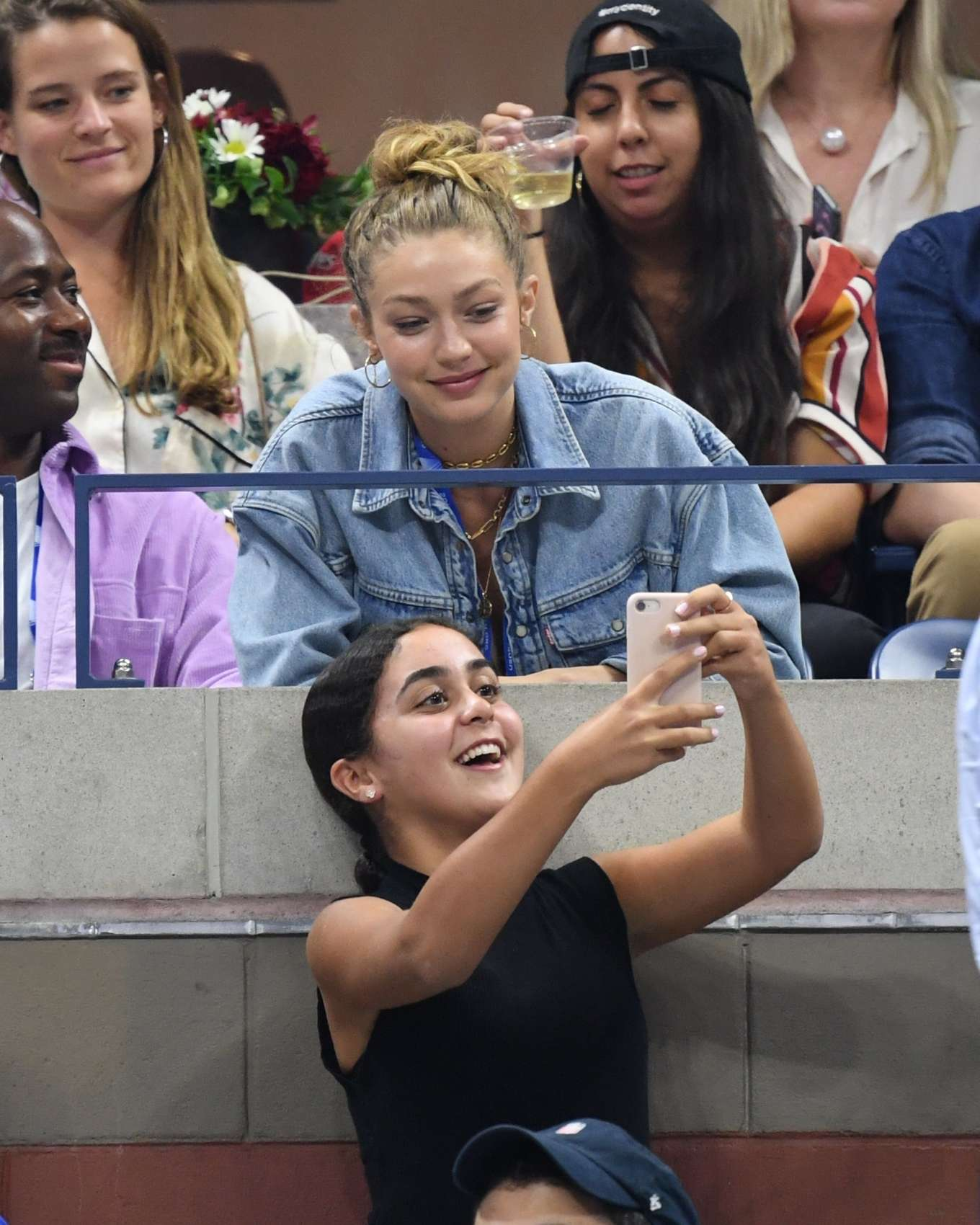 Gigi Hadid - Serena Williams Vs Catherine McNally at 2019 USTA in NY