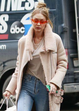 Gigi Hadid - Shopping at Givenchy in NYC
