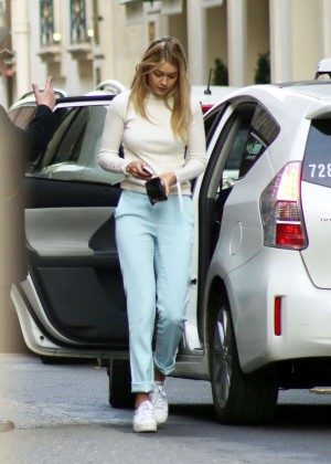 Gigi Hadid - Shopping at the Montaigne Market in Paris