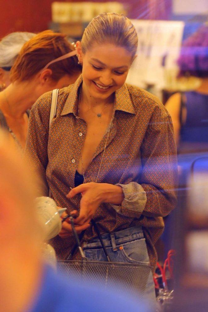 Gigi Hadid - Shopping Candids In New York