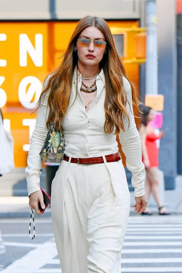 Gigi Hadid - Steps out in New York City