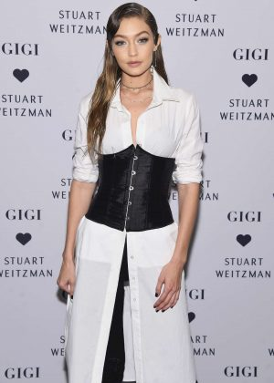 Gigi Hadid - Stuart Weitzman's Launch to promote Gigi Boot in NYC