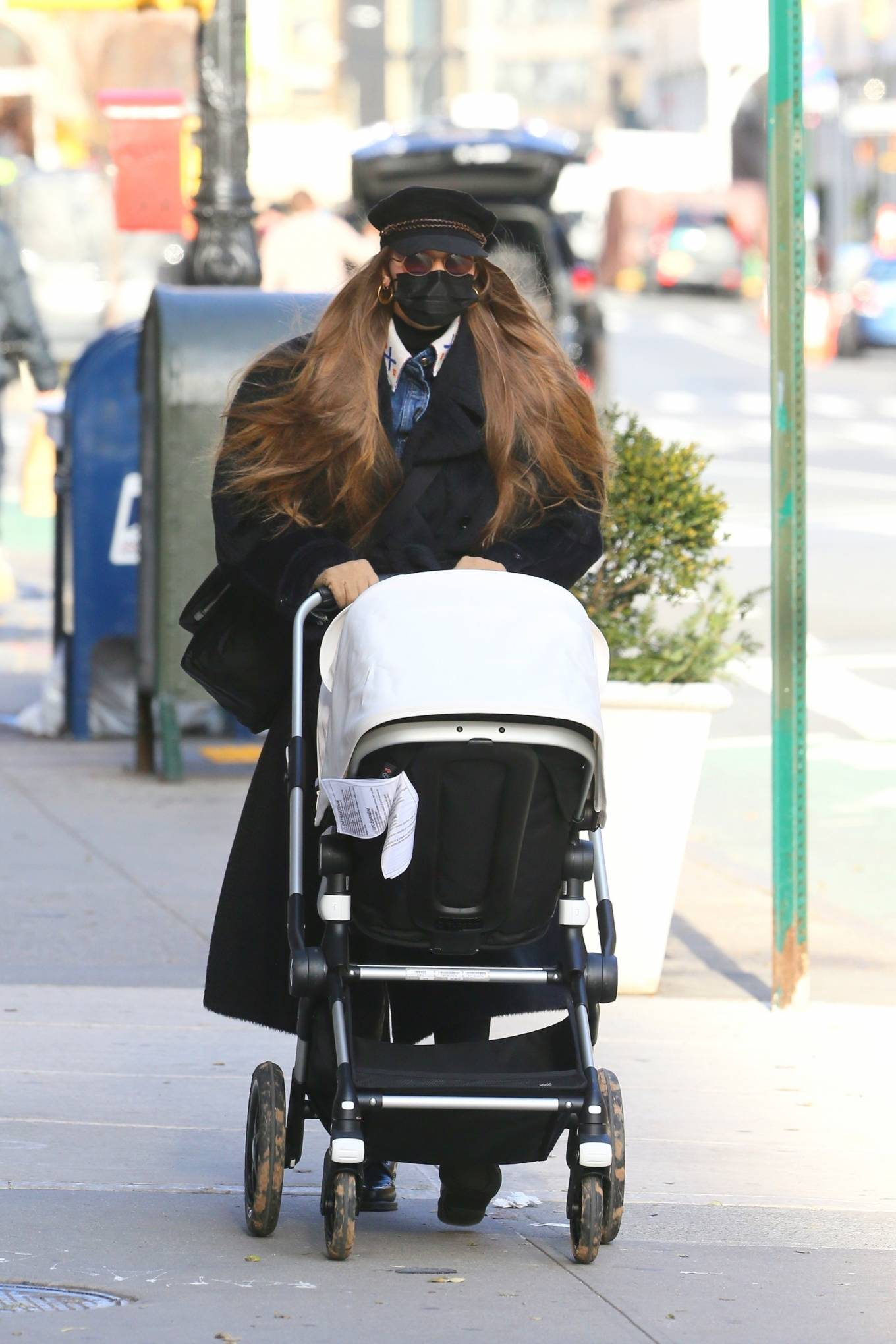 Gigi Hadid - takes her daughter out for a walk in New York City