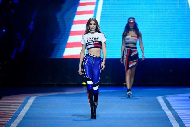 beb33fd11 Gigi Hadid  Tommy Hilfiger Show Runway 2018 in Milan -04 – GotCeleb