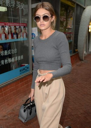 Gigi Hadid - Visits the Color Me Mine Store in Soho