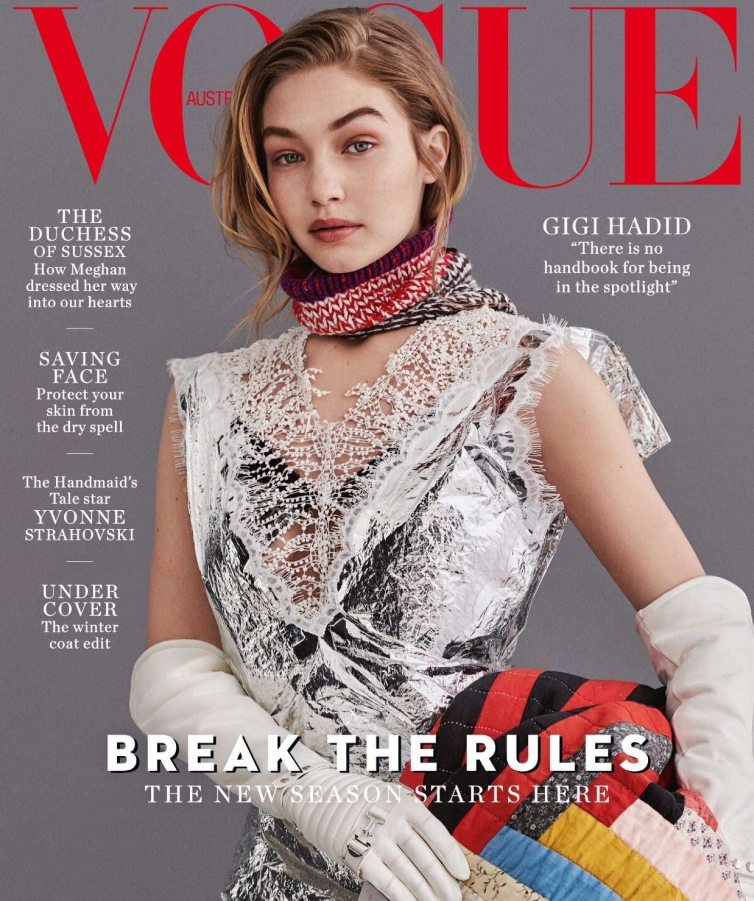 Gigi Hadid - Vogue Australia Magazine (July 2018)
