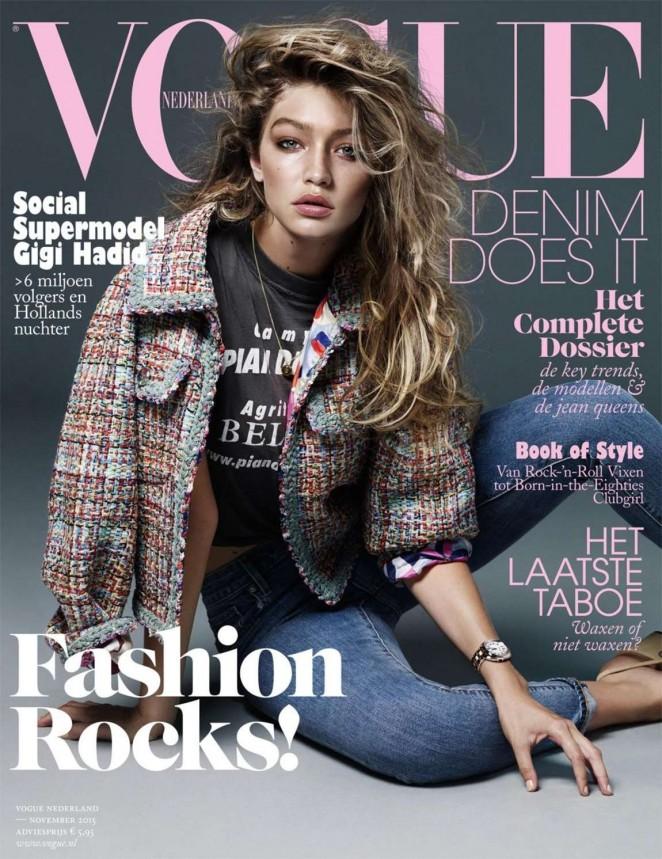 Gigi Hadid - Vogue Netherlands Cover (November 2015)