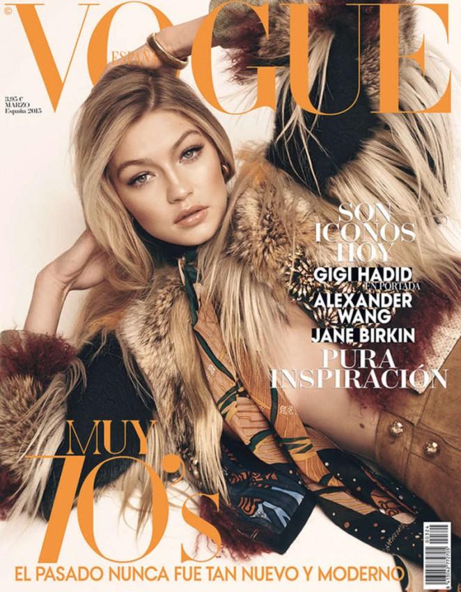 Gigi Hadid - Vogue Spain Cover (March 2015)