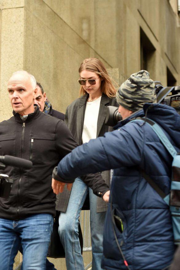 Gigi Hadid 2020 : Gigi Hadid – Walks out of Manhattan Criminal Court in New York-01