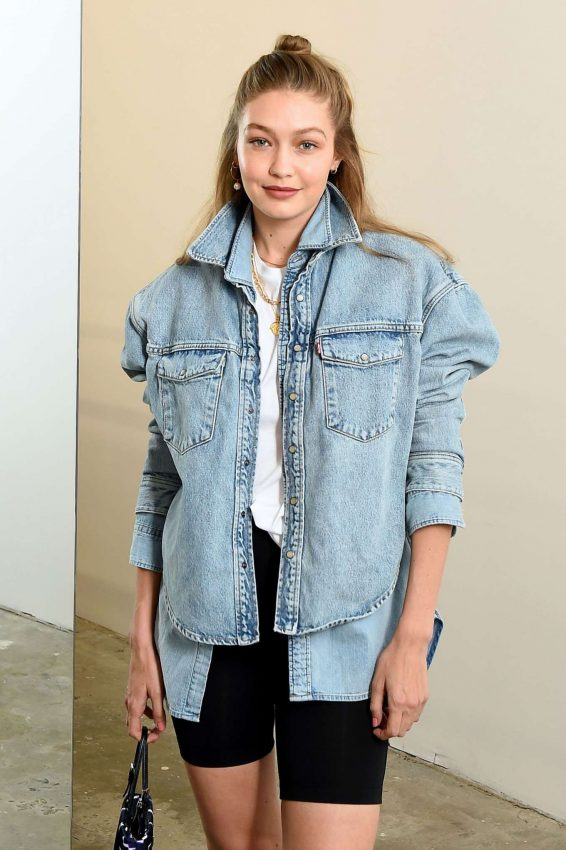 Gigi Hadid - Wardrobe.NYC Launch with Levi's® Collaboration in NY